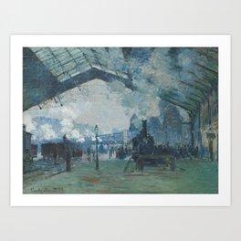 Claude Monet - Arrival of the Normandy Train Art Print