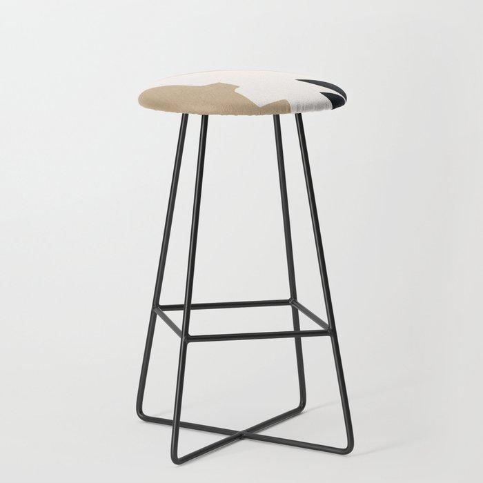 abstract minimal 6 Bar Stool