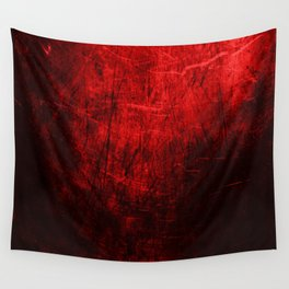 Spartan Red Abstract Wall Tapestry