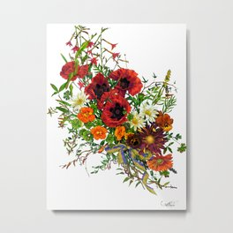 Fancy Poppies  Metal Print