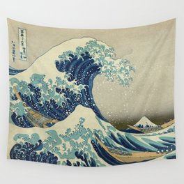 The Great Wave off Kanagawa Wandbehang