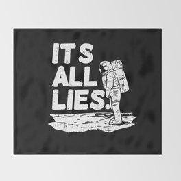 Moon Landing Conspiracy Theory Fake Illuminati Shirt & Gift Throw Blanket