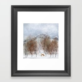 nature will find a way deux Framed Art Print