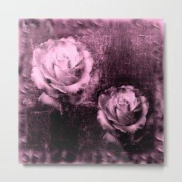 Vintage Rose Illustration Metal Print