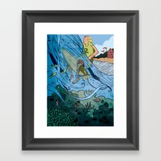 The Contest Framed Art Print