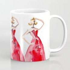 Rouge on the Runway Fashion Illustration Mug