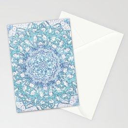 Aqua Lace Mandala Stationery Cards