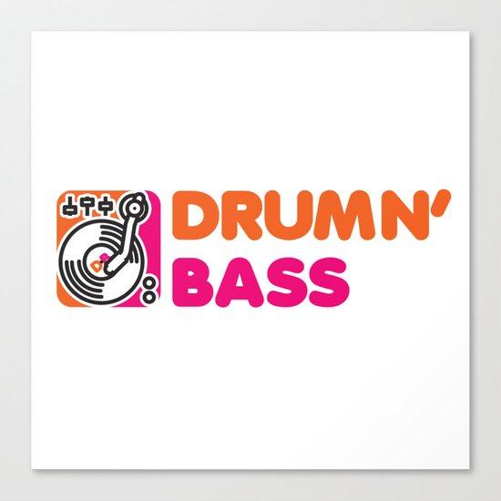 Drumn' Bass  Canvas Print