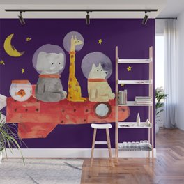 Let's All Go To Mars Wall Mural