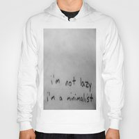 minimalist Hoodies featuring Minimalist by starvingartist19