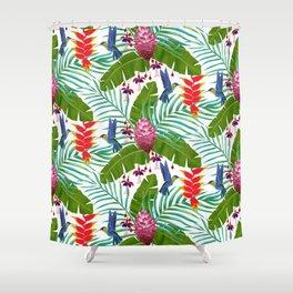 Hummingbird in the Rainforest Shower Curtain