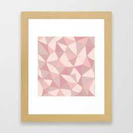 Rose Gold Patchwork with gold inlay Framed Art Print