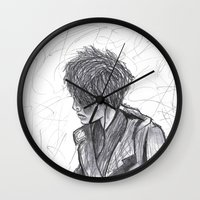 ben giles Wall Clocks featuring Ben by Vidility