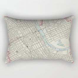 Vintage Map of Nashville TN (1901) Rectangular Pillow