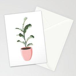 Potted Fiddle-Leaf Fig Plant Stationery Cards