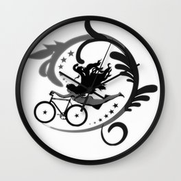 Star Girl Bike Swirl Wall Clock