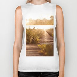 boardwalk and morass grass Biker Tank