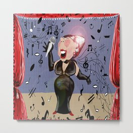 It ain't over until the fat lady sings Metal Print