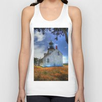lighthouse Tank Tops featuring Lighthouse by Christine Workman