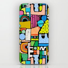 Color Block Collage iPhone Skin