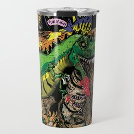 Space Chick & Nympho: Vampire Warrior Party Girl Comix #1- Tyrano the Dinosaur-God  in Comic Page  Travel Mug