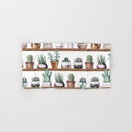 Cactus Shelf Rose Gold Green Hand & Bath Towel