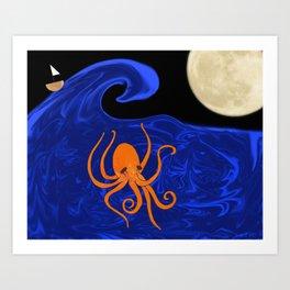 Poseidon's Playtime  Art Print