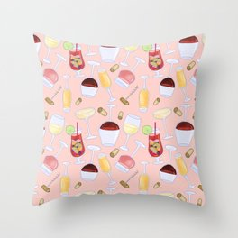 Happy Wine Pattern Throw Pillow