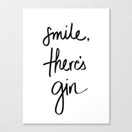 Smile - Gin Canvas Print