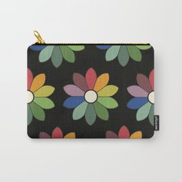 Flower pattern based on James Ward's Chromatic Circle (vintage wash) Carry-All Pouch