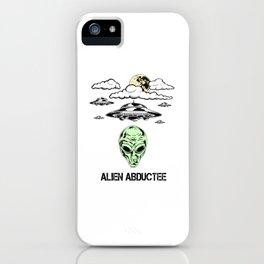 Alien Abductee Funny UFO Extraterrestrial Nerd Believer iPhone Case
