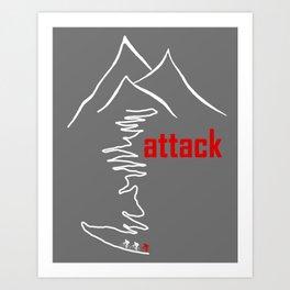 Cycling - Attack Art Print