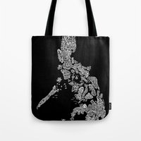 philippines Tote Bags featuring Paranormal Philippines (black) by Rev Cruz