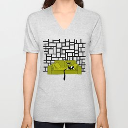 Couch surfing Unisex V-Neck