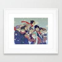 haikyuu Framed Art Prints featuring Haikyuu!! by x3uu