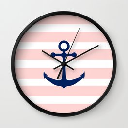 AFE Nautical Navy Ship Anchor Wall Clock