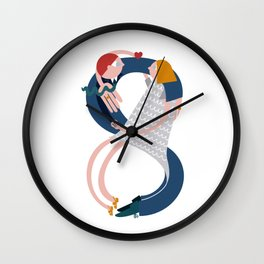 A Married Infinity Couple  Wall Clock
