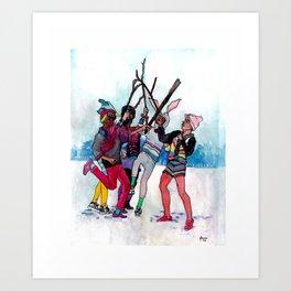 Little lost boys. Art Print