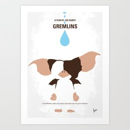 No451 My Gremlin minimal movie poster Art Print
