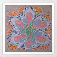 Drops and Petals 3 Art Print