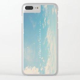 adventure awaits ... Clear iPhone Case