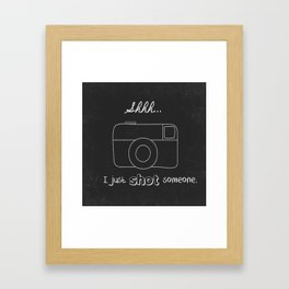 I just shot someone Framed Art Print