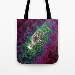 Abstract Fractals Art, Modern Fantasy Pattern Tote Bag