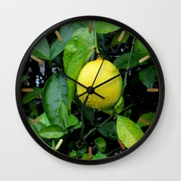 The Lemon Wall Clock