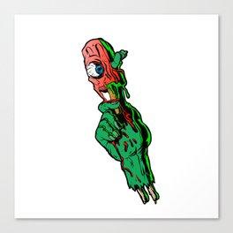 zombie hand holding ice cream Canvas Print