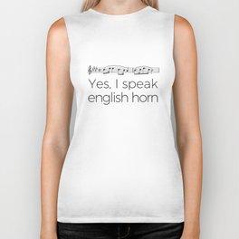 I speak english horn Biker Tank