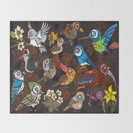 CA 12 BIRDS (CA鳥風月) Throw Blanket