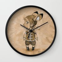 mouse Wall Clocks featuring Mouse by Freeminds