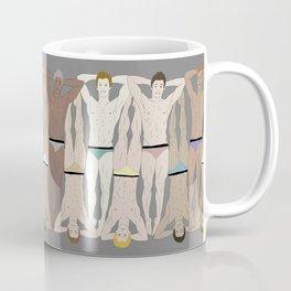 Sunbathers - Retro Male Swimmers Coffee Mug