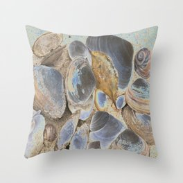 Seashell Abstract Throw Pillow